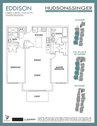 """Photo 6: 508B 20838 78B Avenue in Langley: Willoughby Heights Condo for sale in """"HUDSON & SINGER"""" : MLS®# R2528270"""