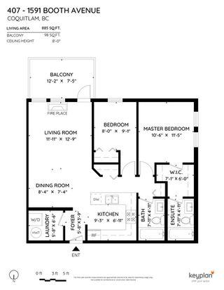 Photo 40: 407 1591 BOOTH AVENUE in Coquitlam: Maillardville Condo for sale : MLS®# R2505339