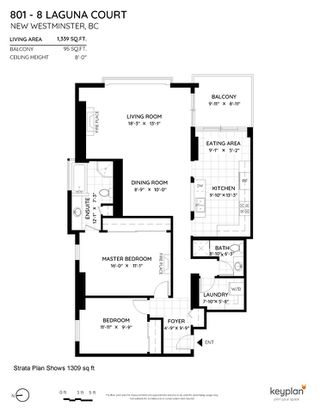"""Photo 2: 801 8 LAGUNA Court in New Westminster: Quay Condo for sale in """"The Excelsior"""" : MLS®# R2506687"""