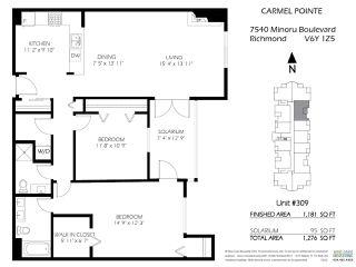 "Photo 20: 309 7540 MINORU Boulevard in Richmond: Brighouse South Condo for sale in ""Carmel Pointe II"" : MLS®# R2451958"