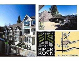 "Photo 1: 3 1015 LYNN VALLEY Road in North_Vancouver: Lynn Valley Townhouse for sale in ""RIVERROCK"" (North Vancouver)  : MLS®# V656993"