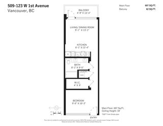 """Photo 29: 509 123 W 1ST Avenue in Vancouver: False Creek Condo for sale in """"COMPASS"""" (Vancouver West)  : MLS®# R2527848"""