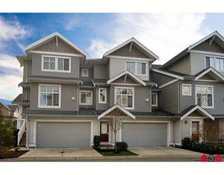 "Photo 1: 31 16760 61ST Avenue in Surrey: Cloverdale BC Townhouse for sale in ""Harvest Landing"" (Cloverdale)  : MLS®# F2729006"