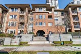 "Photo 1: 203 3097 LINCOLN Avenue in Coquitlam: New Horizons Condo for sale in ""LARKIN HOUSE"" : MLS®# R2439303"