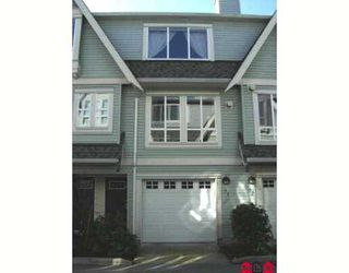 "Photo 1: 31 16388 85TH Avenue in Surrey: Fleetwood Tynehead Townhouse for sale in ""Camelot"" : MLS®# F2706411"