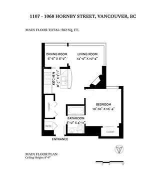 """Photo 4: 1107 1068 HORNBY Street in Vancouver: Downtown VW Condo for sale in """"THE CANADIAN AT WALL CENTRE"""" (Vancouver West)  : MLS®# R2463676"""