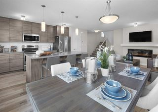 Photo 2: 7164 Edgemont Way in Edmonton: Zone 57 House Half Duplex for sale : MLS®# E4217372