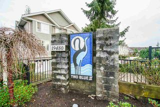 """Photo 1: 43 19480 66 Avenue in Surrey: Clayton Townhouse for sale in """"TWO BLUE"""" (Cloverdale)  : MLS®# R2527582"""
