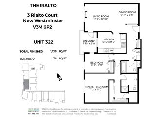 "Photo 18: 322 3 RIALTO Court in New Westminster: Quay Condo for sale in ""The Rialto"" : MLS®# R2439539"