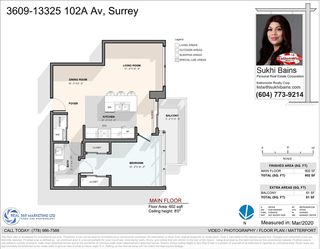 Photo 2: 3609 13325 102A Avenue in Surrey: Whalley Condo for sale (North Surrey)  : MLS®# R2445077