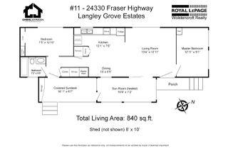 "Photo 20: 11 24330 FRASER Highway in Langley: Aldergrove Langley Manufactured Home for sale in ""Langley Grove Estates"" : MLS®# R2450337"