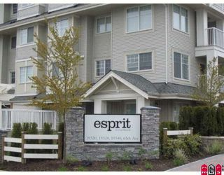 "Photo 1: 306 19320 65TH Avenue in Surrey: Clayton Condo for sale in ""Esprit"" (Cloverdale)  : MLS®# F2813593"