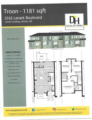 Photo 2: 1016 Lanark Boulevard SE: Airdrie Row/Townhouse for sale : MLS®# A1019250