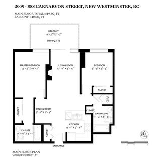 """Photo 20: 3009 888 CARNARVON Street in New Westminster: Downtown NW Condo for sale in """"MARINUS OF PLAZA 88"""" : MLS®# R2460328"""