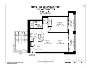 """Photo 20: 1801 668 COLUMBIA Street in New Westminster: Quay Condo for sale in """"Trapp + Holbrook"""" : MLS®# R2398194"""