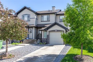 Main Photo: 153 LUXSTONE Way SW: Airdrie Semi Detached for sale : MLS®# C4303374