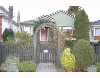 "Photo 1: 829 W 17TH Avenue in Vancouver: Cambie House for sale in ""DOUGLAS PARK"" (Vancouver West)  : MLS®# V748707"