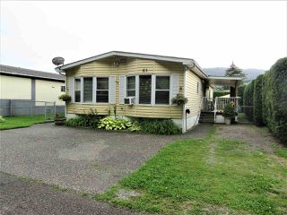 "Photo 2: 61 5742 UNSWORTH Road in Sardis: Vedder S Watson-Promontory Manufactured Home for sale in ""Cedar Grove"" : MLS®# R2405974"