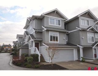 "Photo 1: 39 16760 61ST Avenue in Surrey: Cloverdale BC Townhouse for sale in ""HARVEST LANDING"" (Cloverdale)  : MLS®# F2903413"