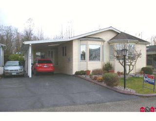 "Photo 1: 182 9055 ASHWELL Road in Chilliwack: Chilliwack W Young-Well Manufactured Home for sale in ""RAINBOW COMMUNITY ESTATES"" : MLS®# H2805879"