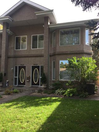 Main Photo: 7547 80 Avenue NW in Edmonton: Zone 17 House Half Duplex for sale : MLS®# E4174107