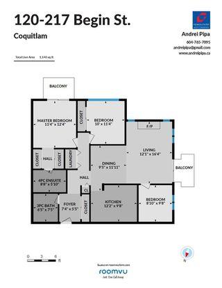 "Photo 17: 120 217 BEGIN Street in Coquitlam: Maillardville Townhouse for sale in ""PLACE FOUNTAINBLEAU"" : MLS®# R2511340"