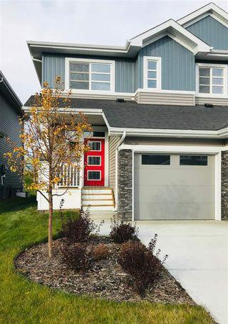 Photo 1: 1430 169 Street in Edmonton: Zone 56 House Half Duplex for sale : MLS®# E4177432