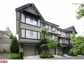 "Photo 1: 116 6747 203RD Street in Langley: Willoughby Heights Townhouse for sale in ""SAGEBROOK"" : MLS®# F1017944"