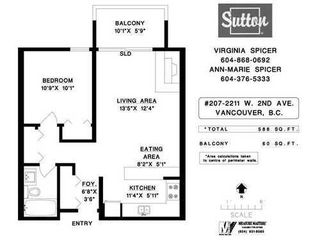 Photo 10: 207 2211 2ND Ave W in Vancouver West: Home for sale : MLS®# V997595