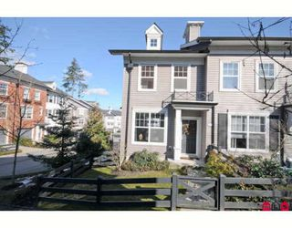 "Photo 1: 64 15075 60TH Avenue in Surrey: Sullivan Station Townhouse for sale in ""NATURE'S WALK"" : MLS®# F2903783"