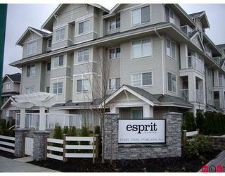 """Photo 1: 407 19320 65TH Avenue in Surrey: Clayton Condo for sale in """"ESPRIT AT SOUTHLANDS"""" (Cloverdale)  : MLS®# F2908846"""