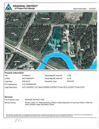 Photo 40: 3121 DORMAN Road in McBride: McBride - Rural West House for sale (Robson Valley (Zone 81))  : MLS®# R2479882