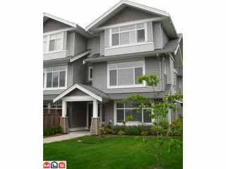 "Photo 1: 61 19330 69TH Avenue in Surrey: Clayton Townhouse for sale in ""MONTEBELLO"" (Cloverdale)  : MLS®# F1018264"