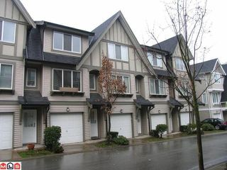 "Photo 1: 26 8775 161ST Street in Surrey: Fleetwood Tynehead Townhouse for sale in ""The Ballantyne"" : MLS®# F1007768"