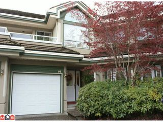 "Photo 1: 64 4001 OLD CLAYBURN Road in Abbotsford: Abbotsford East Townhouse for sale in ""Cedar Springs"" : MLS®# F1009565"