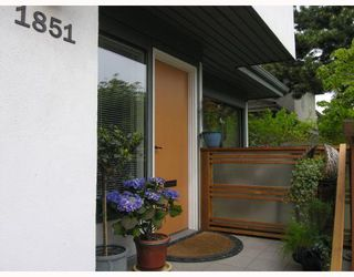 Photo 1: 1851 GREER Avenue in Vancouver: Kitsilano Townhouse for sale (Vancouver West)  : MLS®# V762129