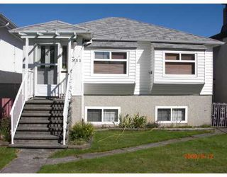Photo 1: 3153 E 3RD Avenue in Vancouver: Renfrew VE House for sale (Vancouver East)  : MLS®# V787074