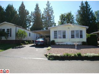 "Main Photo: 32 2315 198TH Street in Langley: Brookswood Langley Manufactured Home  in ""DEER CREEK ESTATES"" : MLS®# F1023869"