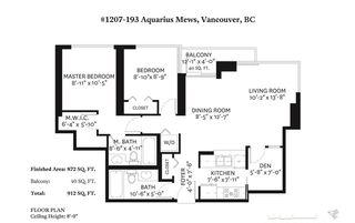 "Photo 20: 1207 193 AQUARIUS Mews in Vancouver: Yaletown Condo for sale in ""MARINASIDE RESORT"" (Vancouver West)  : MLS®# R2449781"