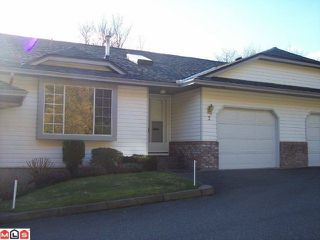 "Photo 1: 2 3351 HORN Street in Abbotsford: Central Abbotsford Townhouse for sale in ""EVANSBROOK ESTATES"" : MLS®# F1102828"