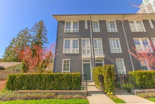 "Photo 1: 124 528 FOSTER Avenue in Coquitlam: Coquitlam West Townhouse for sale in ""BLACK & WHITE"" : MLS®# R2453802"