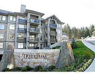 "Main Photo: 407 2988 SILVER SPRINGS BV in Coquitlam: Canyon Springs Condo for sale in ""Silver Springs - Trillium"" : MLS®# V574356"