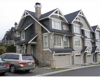 "Photo 1: 84 1357 PURCELL Drive in Coquitlam: Westwood Plateau Townhouse for sale in ""WHITETAIL"" : MLS®# V755813"