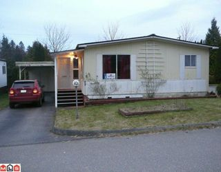 "Main Photo: 101 1884 MCCALLUM Road in Abbotsford: Central Abbotsford Manufactured Home for sale in ""GARDEN VILLAGE"" : MLS®# F1004411"