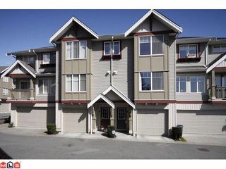 "Photo 1: 44 6651 203RD Street in Langley: Willoughby Heights Townhouse for sale in ""SUNSCAPE"" : MLS®# F1009765"