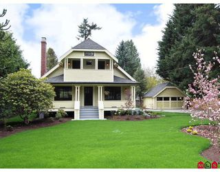 "Photo 1: 8989 GLOVER Road in Langley: Fort Langley House for sale in ""Fort Langley"" : MLS®# F2819911"