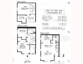 """Photo 10: 2007 W 13TH Avenue in Vancouver: Kitsilano Townhouse for sale in """"THE MAPLES"""" (Vancouver West)  : MLS®# V782705"""