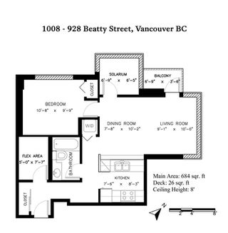 Photo 17: 1008 928 BEATTY STREET in Vancouver: Yaletown Condo for sale (Vancouver West)  : MLS®# R2410729