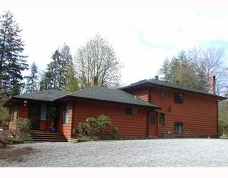 Photo 1: 11319 280TH Street in Maple_Ridge: Whonnock House for sale (Maple Ridge)  : MLS®# V760444