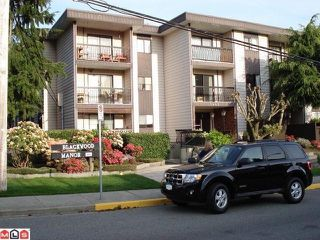 "Photo 1: 110 1442 BLACKWOOD Street: White Rock Condo for sale in ""BLACKWOOD MANOR"" (South Surrey White Rock)  : MLS®# F1021737"